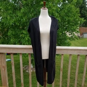 New Maurice's Black Knit Duster Cardigan